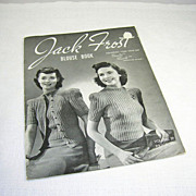Fabulous �Jack Frost� Blouse/Sweater Book ~ Knit and Crochet ~