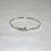 SOLD Georg Jensen Hinged Bangle Bracelet 925S Denmark