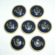 7 Liz Claiborne Matching Metal & Glass Buttons