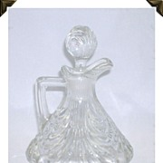 Elegant Vintage Cambridge Crystal Glass Cruet Caprice Pattern