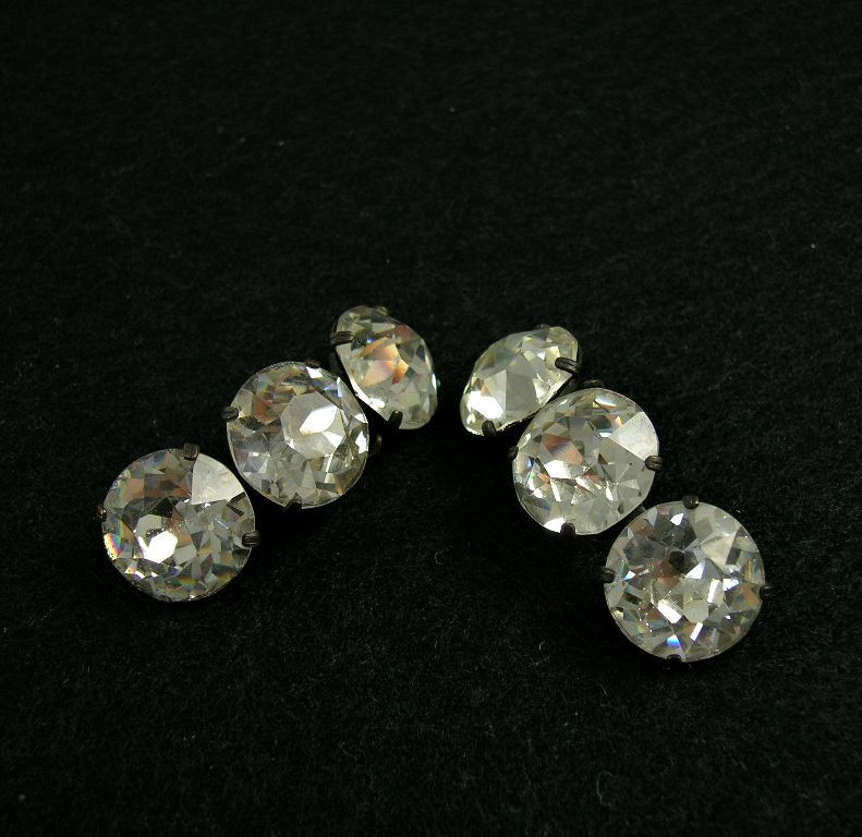 Gorgeous Brilliant Cut Clear Rhinestone Dress/Shoe Clips Set of 2 Made In France