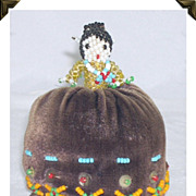 Darling Vintage Hand Sewn Native American Doll Pin Cushion