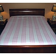 SOLD Gorgeous European Pink & White Stripe Cotton Damask Duvet Cover