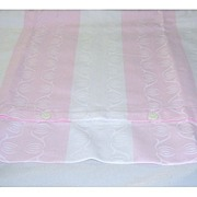 SOLD Gorgeous European Pink & White Stripe Cotton Damask Pillow Sham