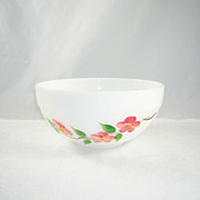 Vintage Gay Fad Peach Blossom Anchor Hocking Fire King Mixing Bowl