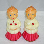 Endearing Gurley Choir Boy Figural Candles Set of 2 Twins