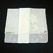 SOLD NOS Madeira Irish Linen Lady Heritage Handkerchief/Hanky As Seen In Vogue