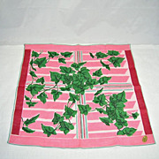 Vintage NOS Irish Linen Art Modern Ivy Leaves Best Seller