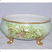 Limoges W. G. & Co. Footed Ferner Centerpiece Artist Signed