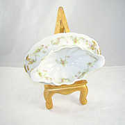 Vintage Haviland & Co Limoges France Princess Pattern Gravy Boat Attached Plate