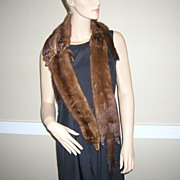 4 Vintage Rich Brown Mink Pelts Stole Collar Shawl
