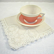 Set of 12 Matching Vintage Elaborate Open Work Linen Napkins