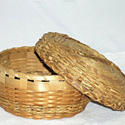 Vintage Native American Sweet Grass Utilitarian Basket