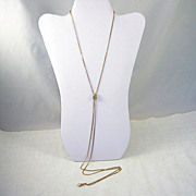 Beautiful Vintage Ladies Watch Chain Opal Fob Slide