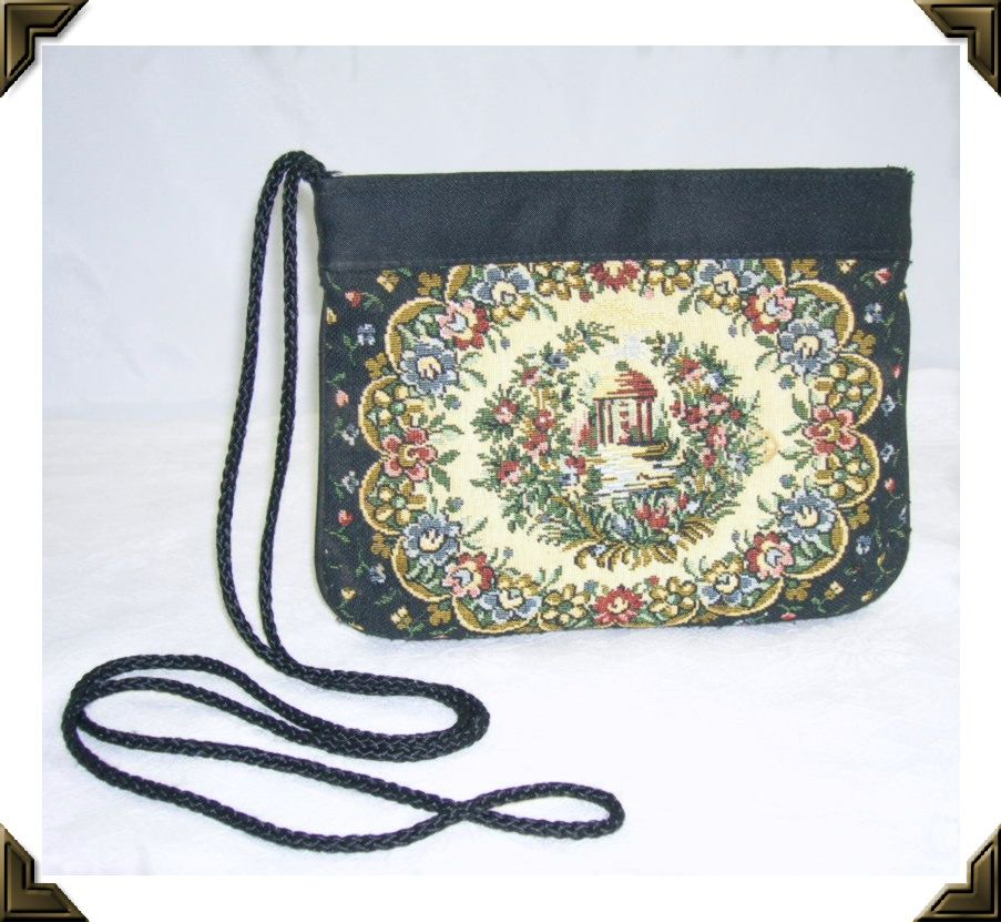 Lovely Vintage Needlepoint Purse/Handbag Shoulder Strap