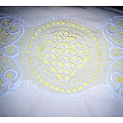 Gorgeous Single Vintage Embroidered Open Work Pillow Sham Cover Cotton
