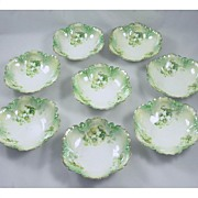 Set of 8 Elegant R S Prussia Berry Bowls