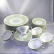 Rosenthal Germany Versailles Dinnerware Set 44 Pieces Artist Signed