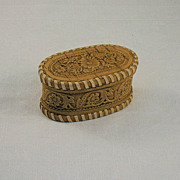 Hand Crafted Russian Decorative Practical Oval Lidded Trinket Box