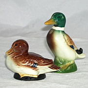 Goebel Vintage Mallard Ducks Salt Pepper Shakers Drake Hen