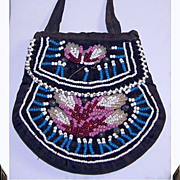 SALE PENDING Early American Indian Beaded Purse/Bag