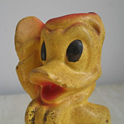 Vintage Donald Duck Chalkware Figurine Statue Carnival Prize