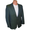 Vintage 1950s 1960s VLV Sharkskin Jacket in Green Black with Griffin Shark Lining M