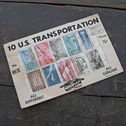 Vintage 1960s Stamp Packet Dime Store Stamps