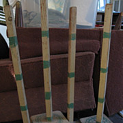 1929 Set of Four Quilt Frame Legs Painted Wood
