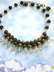 Gorgeous Vintage Crystal Bead Rondelles and Beaded Drippy Necklace