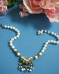 Springtime Beauty Vintage Milk Glass Vintage Necklace