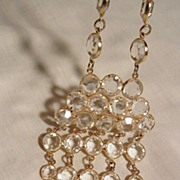 SALE Stunning clear glass crystal cascading waterfall bib Necklace