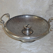 Aluminum~Floral, Nut Compote, Handled Server