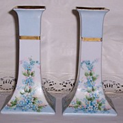"SOLD Oscar & Edgar Gutherz~ Austrian, "" Forget-Me-Not"" Candle-Holders"