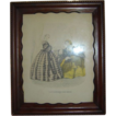 Vintage &quot;Godey's Americanized Paris Fashions 1865&quot; Framed Print