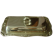 Vintage Silvertone Metal Covered butter Dish