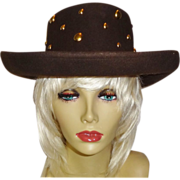 SALE Vintage Studded Wool Felt Hat by Betmar