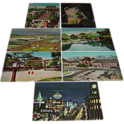 7 Vintage 1950's Tokyo, Japan Real Photo Postcard Lot