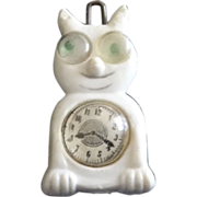 SALE Vintage 1950's Google-Eyed Clock Cat  Hair Clip