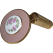 Vintage Cloisonne Folding Mirror and Lipstick Holder by Schildkraut