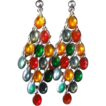 Vintage Multi-Colored Dangle Earrings