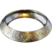 Vintage Embossed Brass Bangle Bracelet