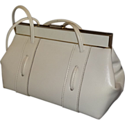 SALE Vintage Winter White Handbag