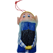 Vintage Knee Hugger Elf Ornament In Original Package