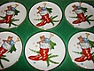 HALF OFF SALE Set of 6 Porcelain Bayreuth 22Kt Gold Christmas Mini Plates