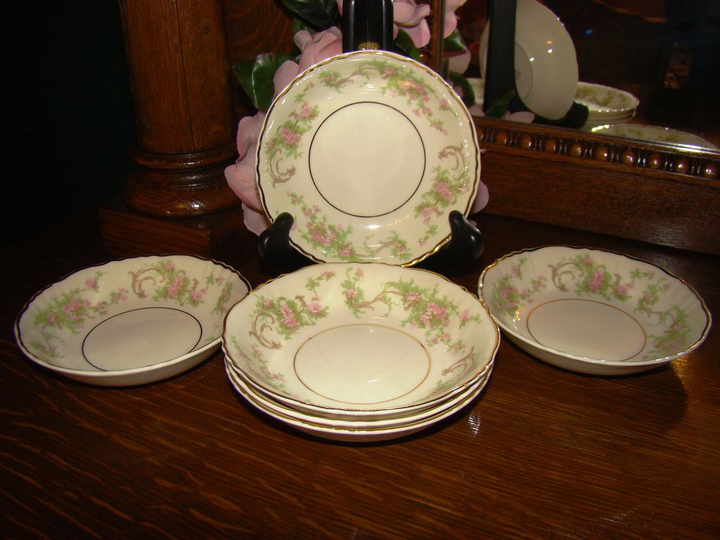 6 Syracuse China &quot;Dearborn&quot; Fruit Bowls