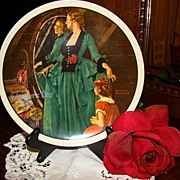 "Norman Rockwell ""Grandma's Courting Dress"" Plate~Mother's Day 1984"