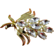 SALE HALF OFF Bold Marquise Rhinestone Brooch