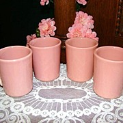 Retired Fiesta Mates Rose Mugs ~ Set of 4