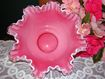 "Exquisite Fenton Peach Crest 10"" Double Crimped Bowl"